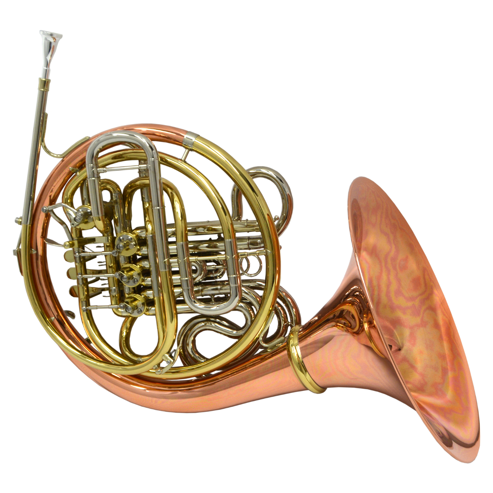 American Elite VI (A) French Horn w/ Detachable Bell – Rose, Gold & Nickel
