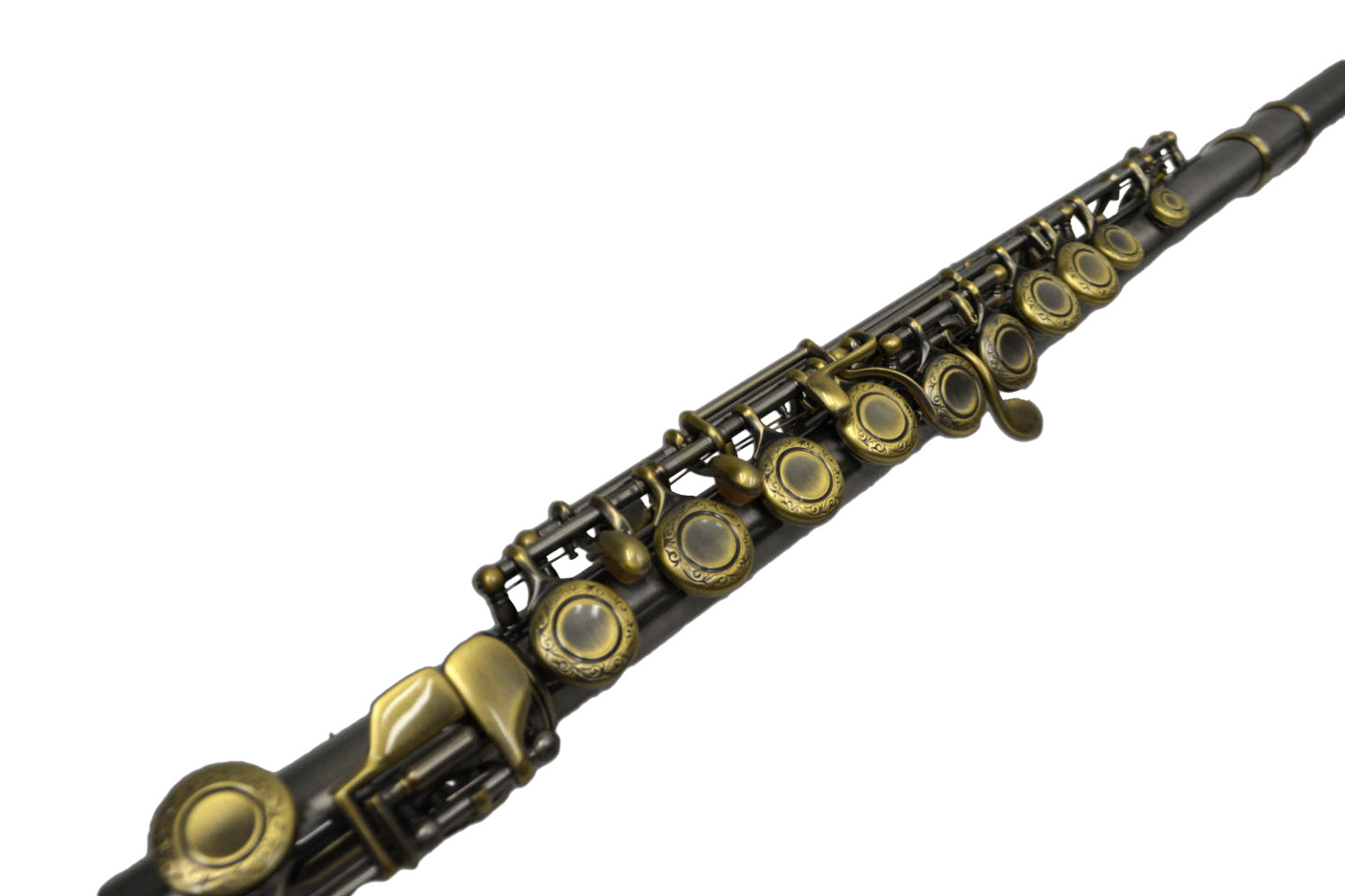200 Series Flute – Satin Silver and Antiqued Gold Keys