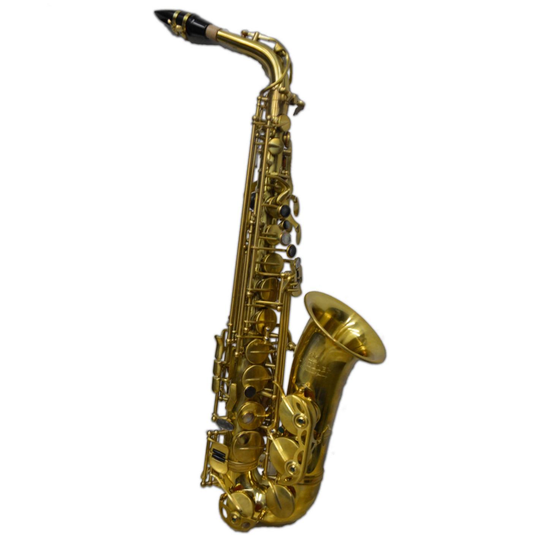 Elite V Pro Artist Alto Saxophone – Raw Brass