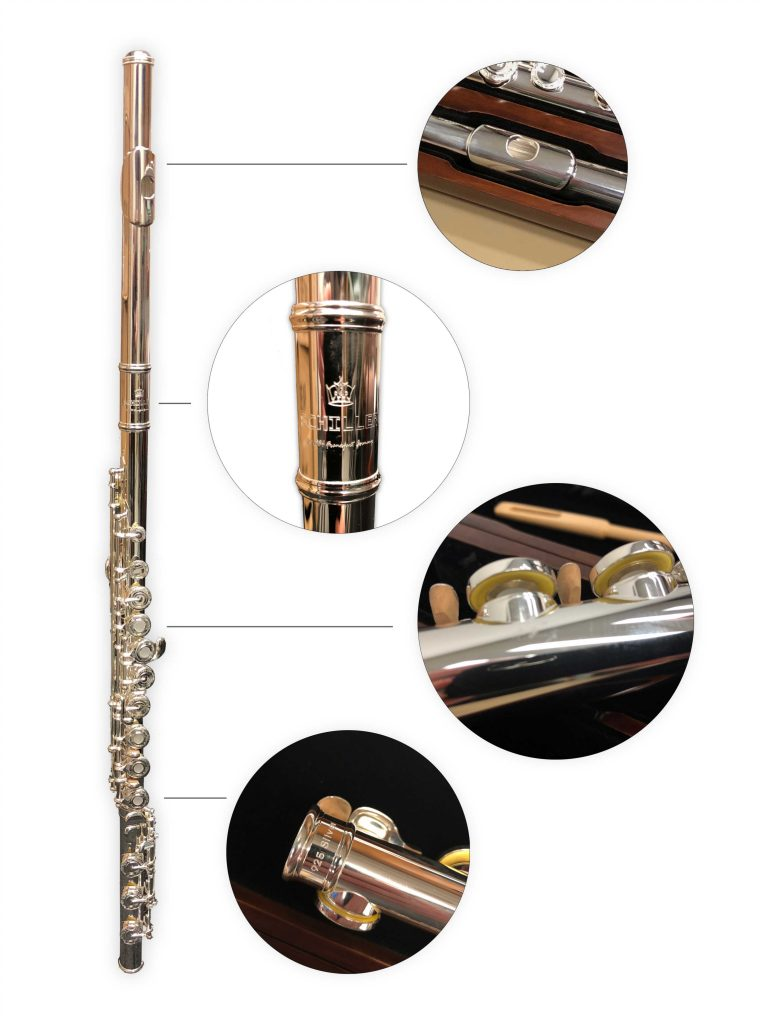 Elite Frankfurt Solid Sterling Flute with Soldiered & Rolled Tone Holes