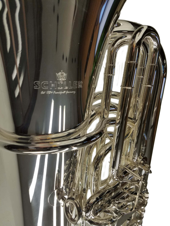 Frankfurt Elite 4-Valve Rotary Tuba – Silver