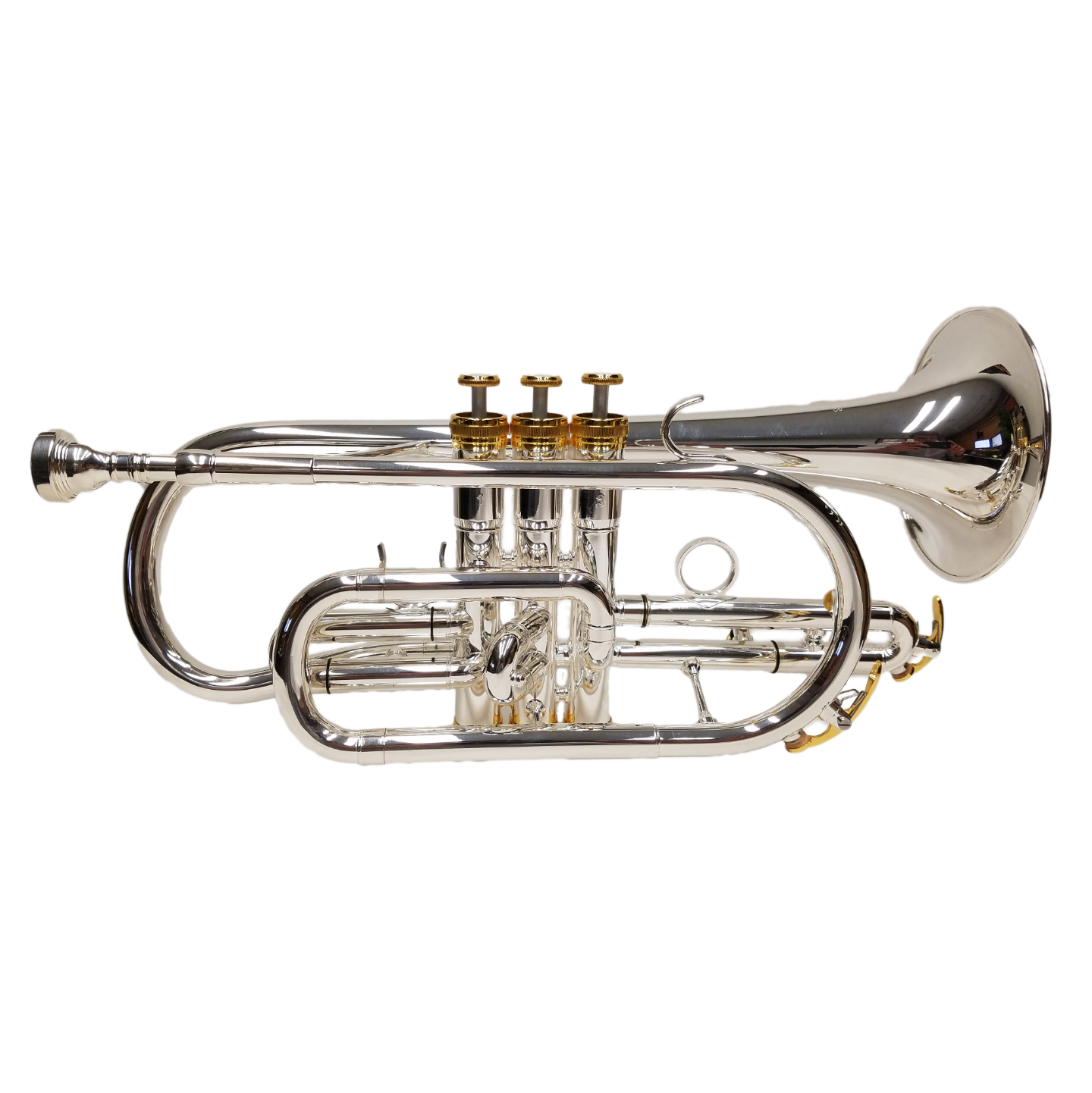 Elite Shepherds Crook Pro Cornet – Silver Plated