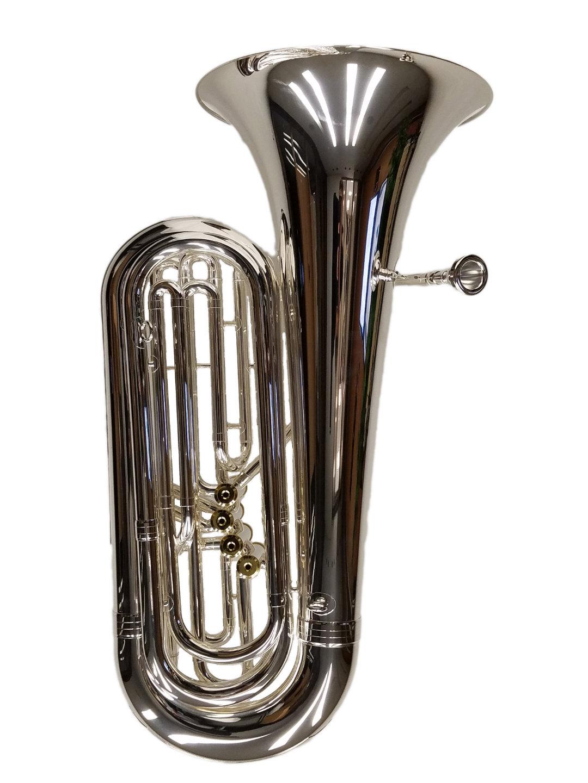 Elite 4 Valve Front Action Tuba – Silver