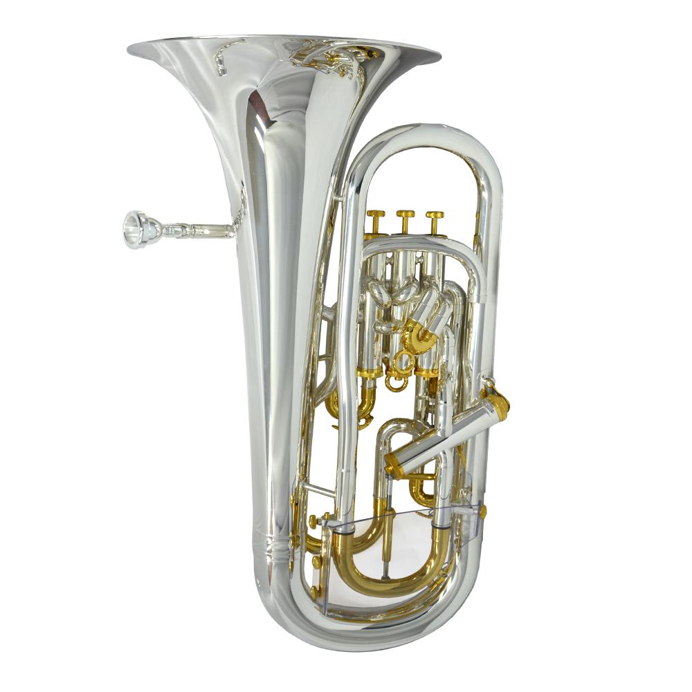 Elite V Compensating Euphonium – Silver & Gold