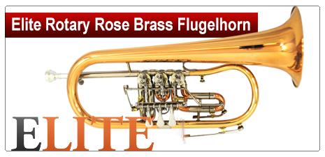 Elite Rotary Rose Brass Flugelhorn