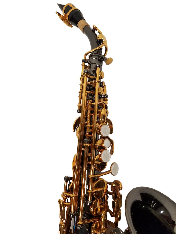 American Heritage 400 Curved Soprano Saxophone – Black & Gold