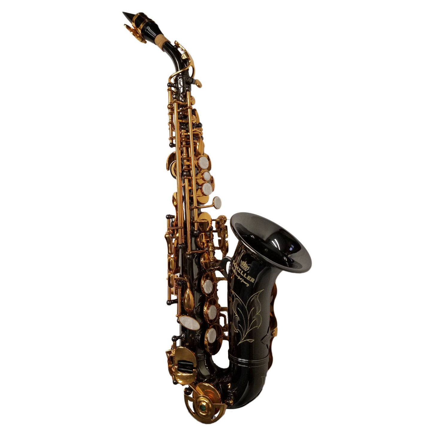 American Heritage 400 Curved Soprano Saxophone – Black & Gold