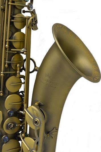 Elite Luxus Tenor Saxophone – Antique Brass Finish