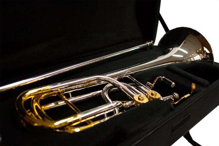 Studio Elite Double Trigger Bass Trombone – Silver/Gold