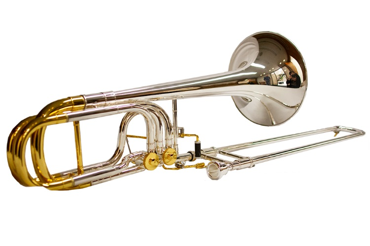 Studio Elite Double Trigger Bass Trombone – Silver/Gold