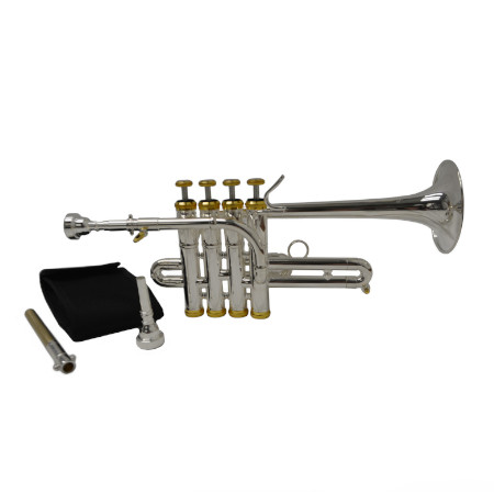 Elite Studio Piccolo Trumpet – Silver & Gold
