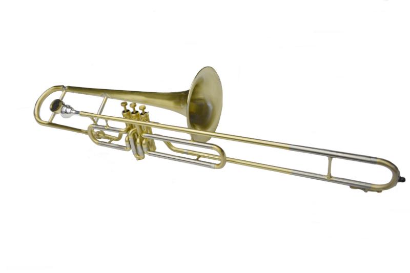 American Heritage Bb Valve Trombone – Brushed Gold