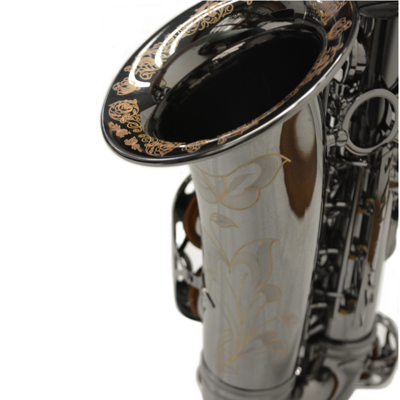 Elite V Black Nickel Brass Big Bell Alto Saxophone