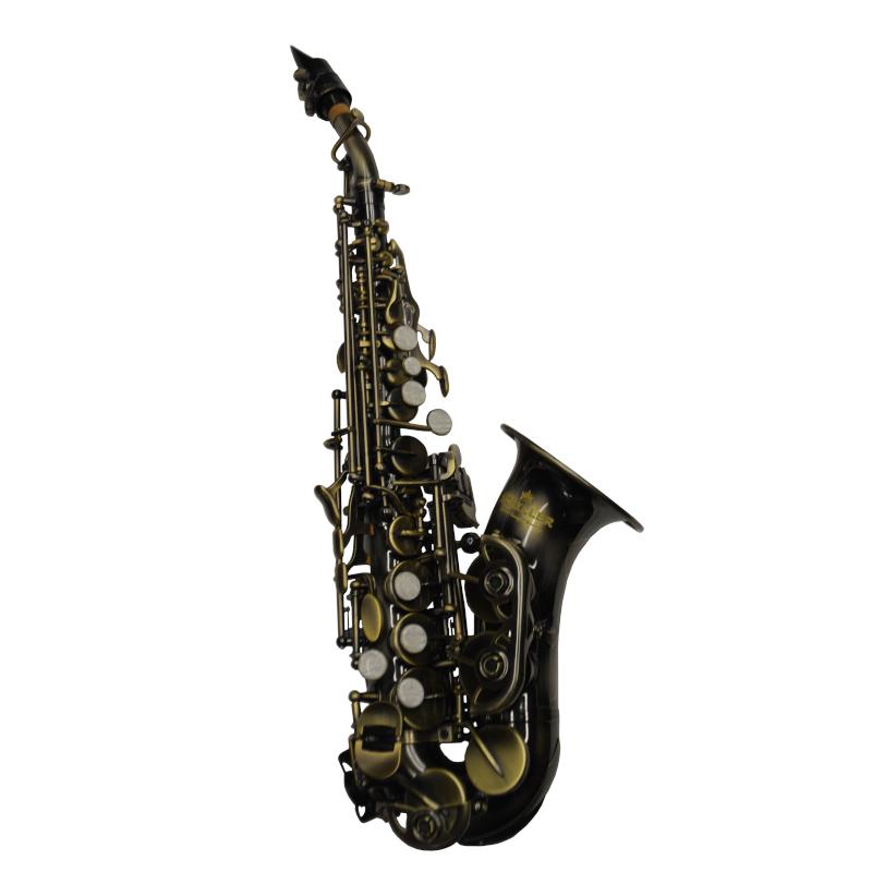 Schiller American Heritage 400 Curved Soprano Saxophone – Turkish Brass