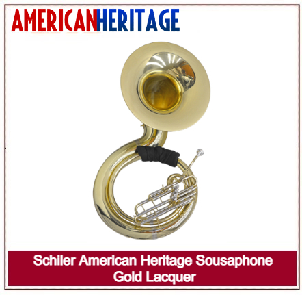 SCHILLER AMERICAN HERITAGE SOUSAPHONE GOLD LACQUER