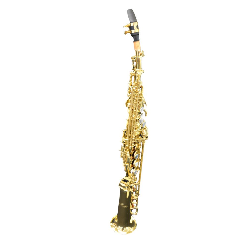 Elite V Soprano Saxophone Gold Lacquer W/Enlarged Bell