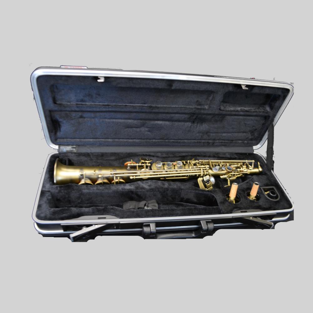Elite V Luxus Soprano Saxophone Antique Brass Plated Luxus Finish