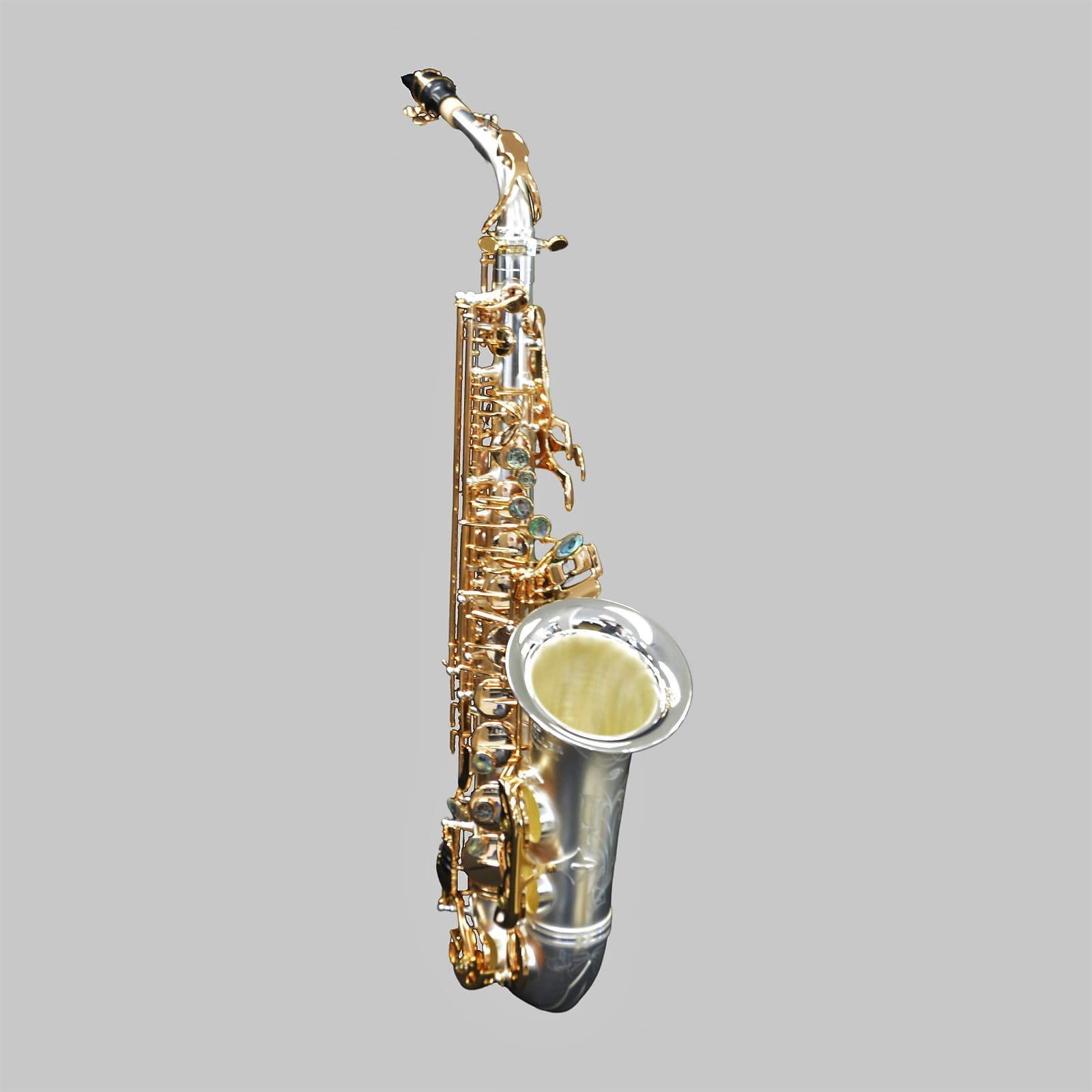 Elite V Alto Saxophone Satin Silver/Gold Keys Big Bell