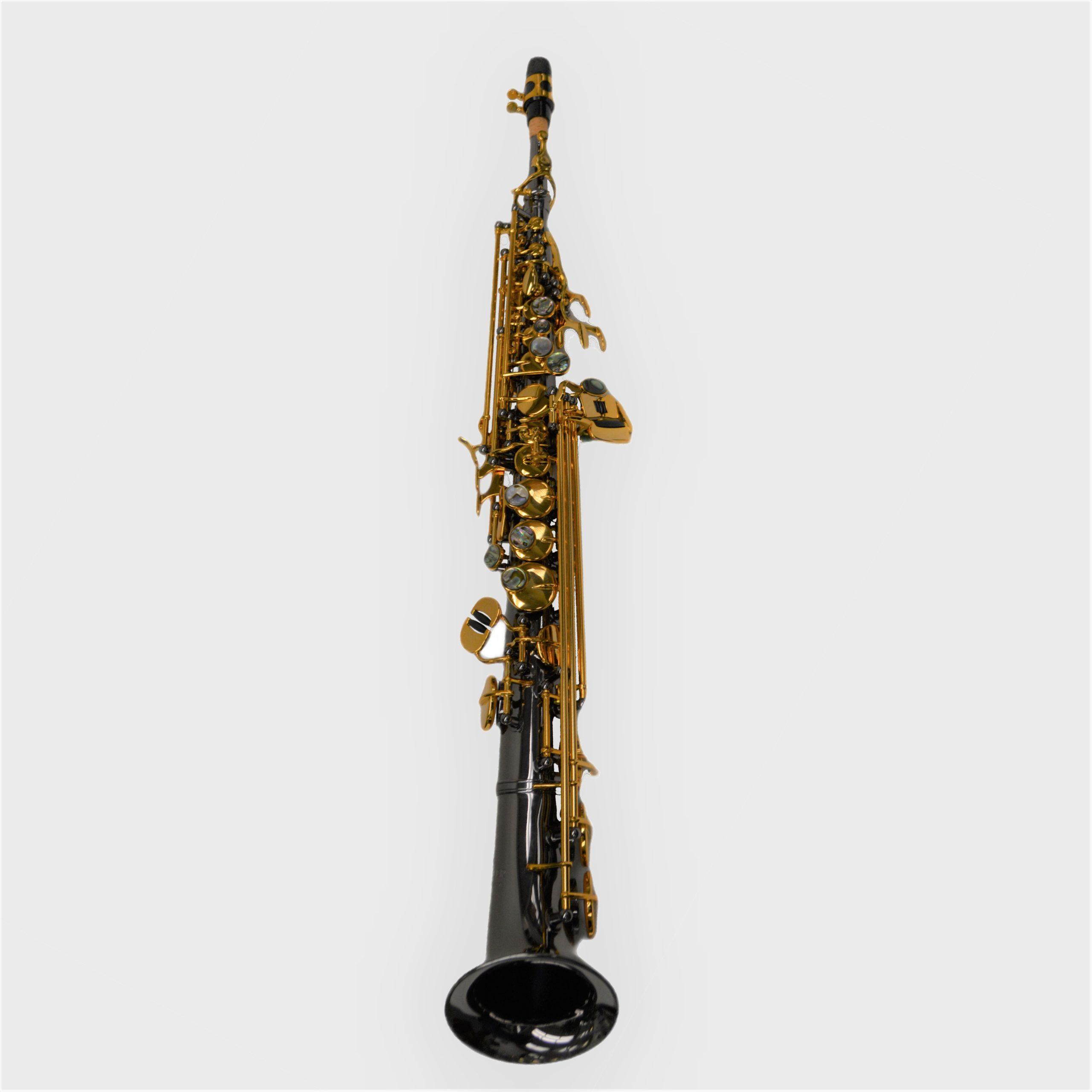 Elite V Semi Curved Soprano Saxophone Black/Gold