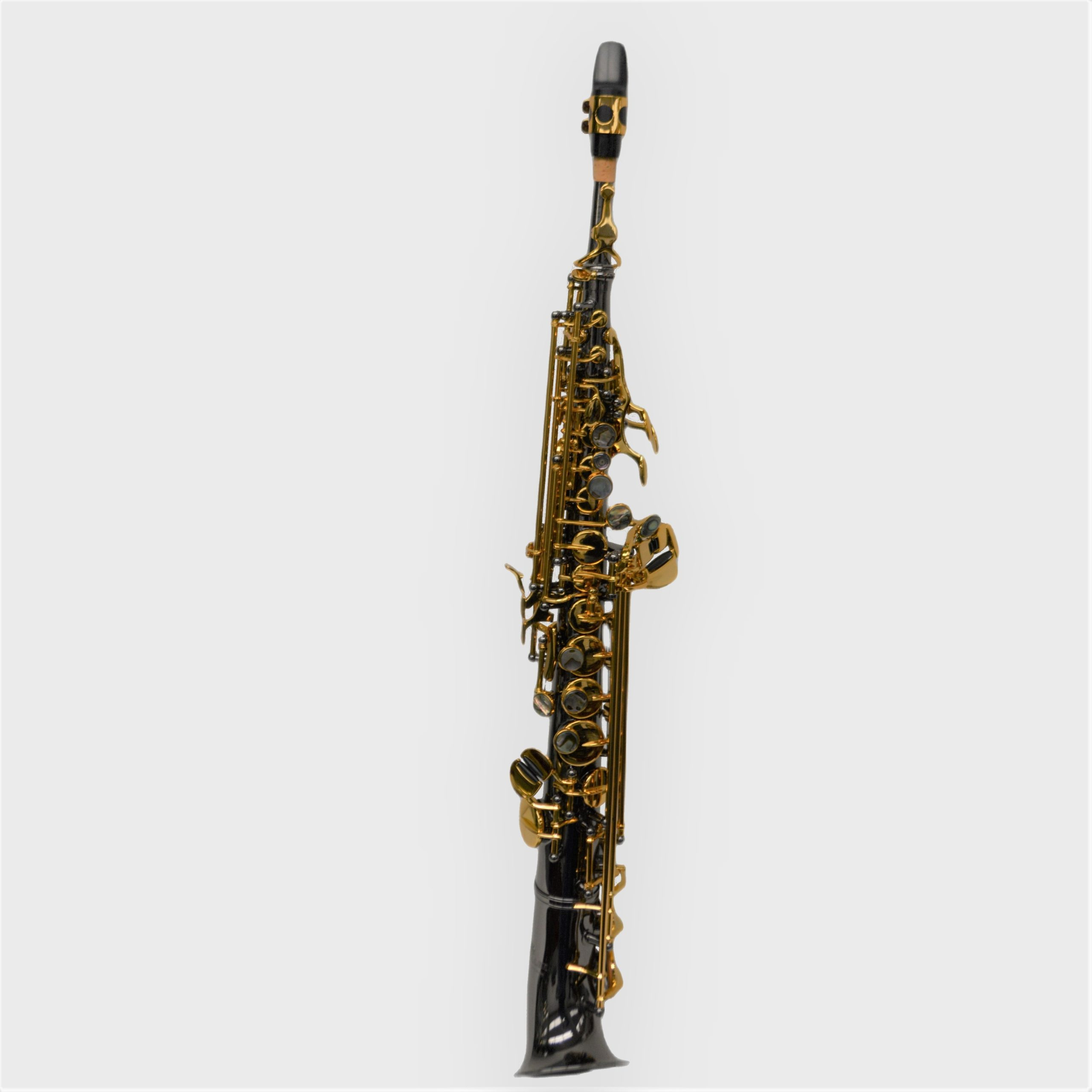Elite V Semi Curved Soprano Saxophone Black/Gold