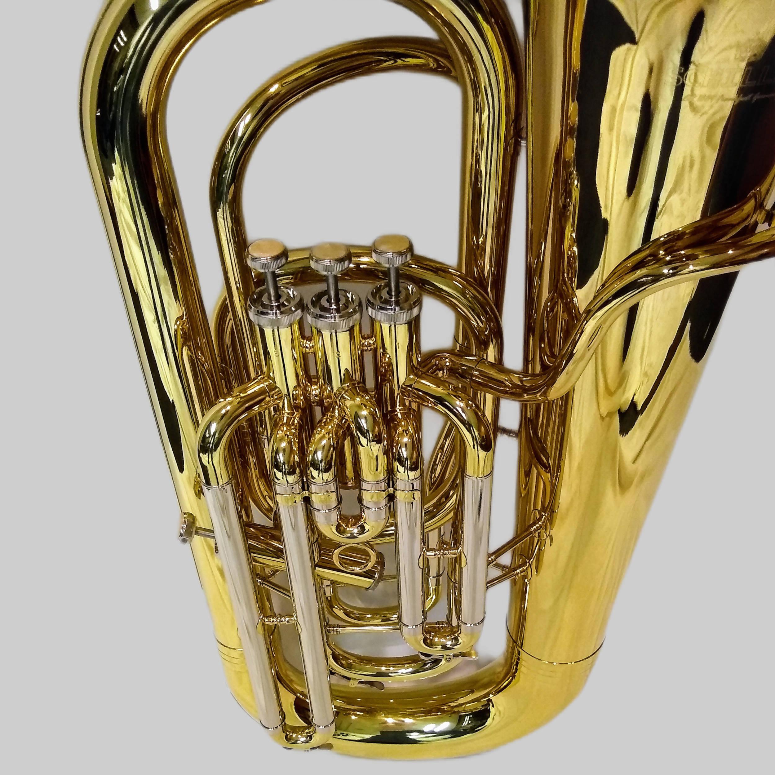 American Heritage 4 Valve Piston Sidekick FF Tuba – Gold Lacquer