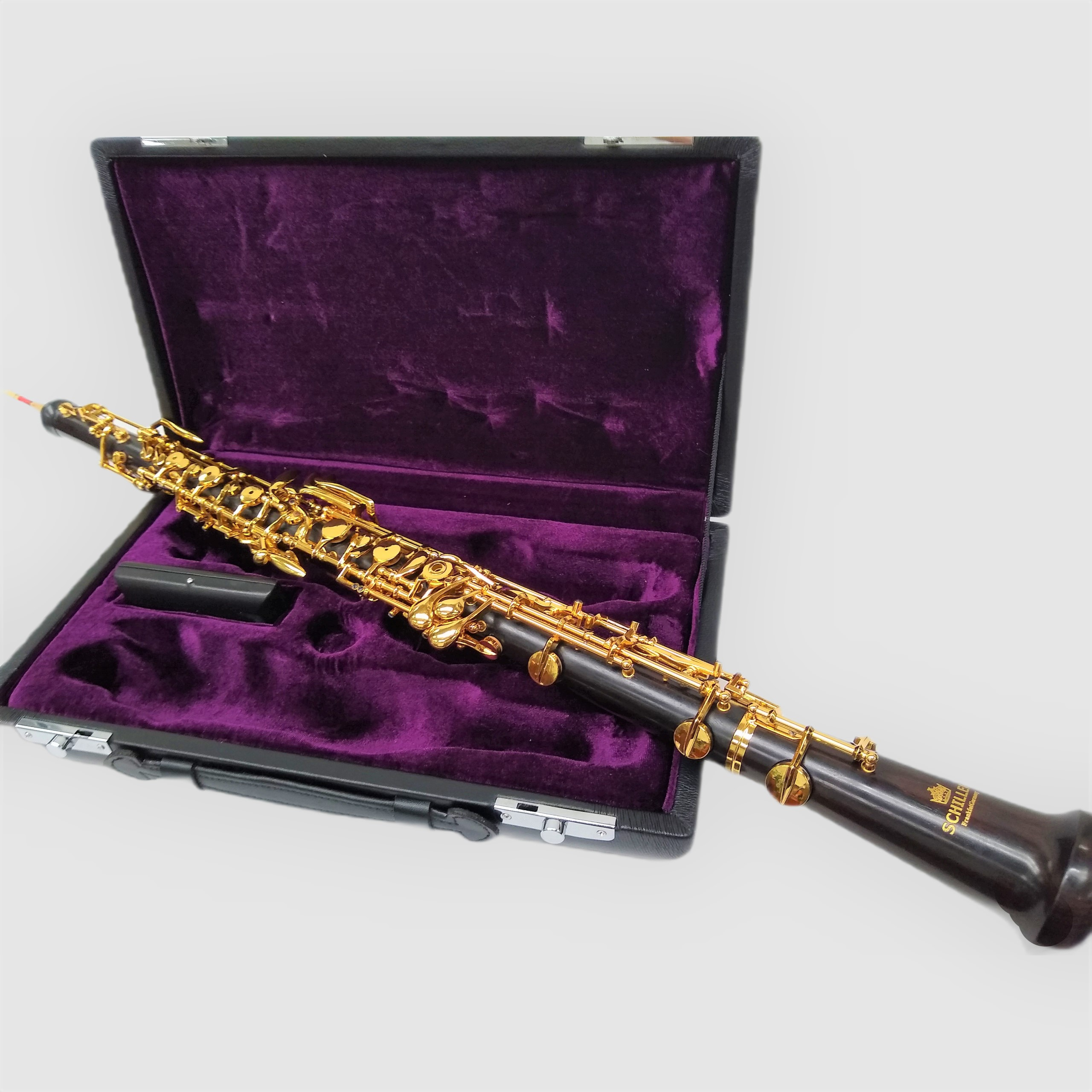 Elite V Conservatory Oboe with Selected Grenadilla Wood – Open Hole Gold Plated Keys
